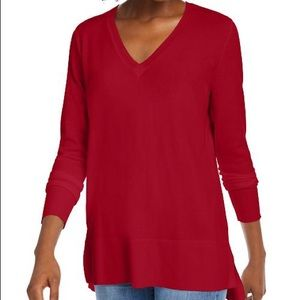 maison Jules Red Sweater. Size L
